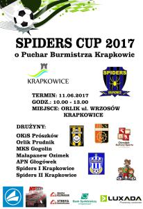 plakat Spiders Cup 2017 pop